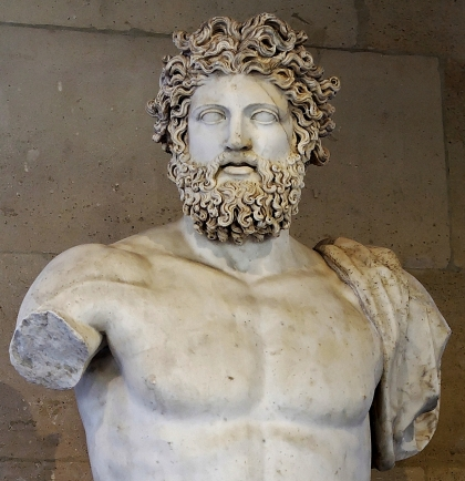 Ancient Greek god, Zeus olympian