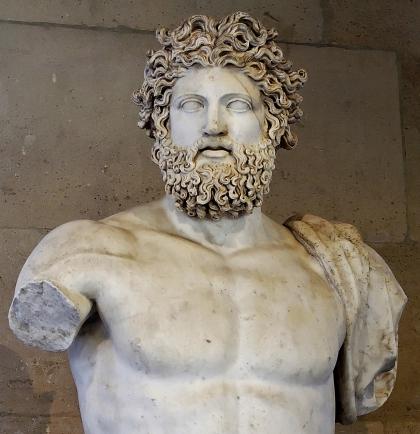 Ancient Greek god, Zeus olympian